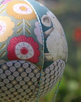 Montgolfière Fleurs et Mouton