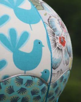 Montgolfière Fleurs et oiseaux bleus